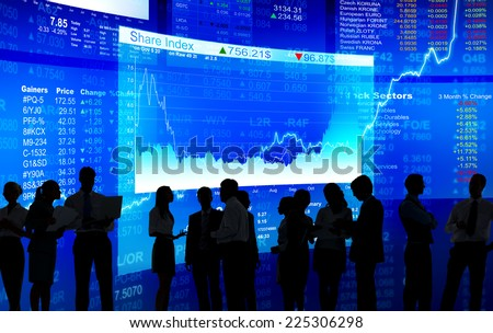 Business Communication at Stock Market - stock photo