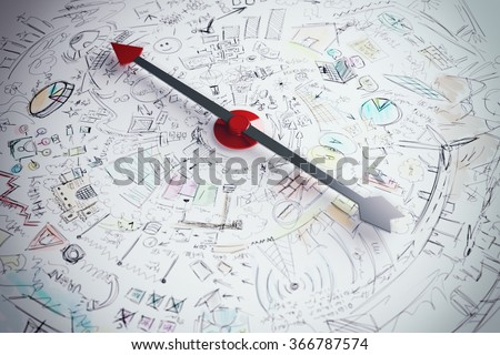 Business compass - stock photo