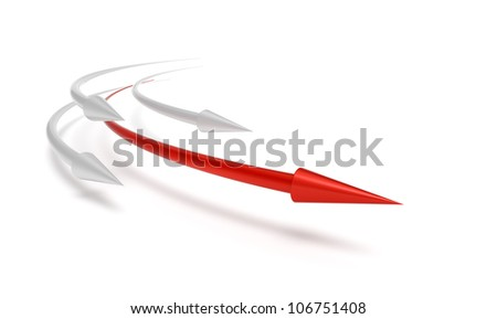 Business competition race leader winner concept 3D - stock photo