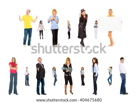 Business Compilation Office Idea  - stock photo