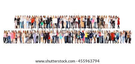 Business Compilation Standing Together  - stock photo