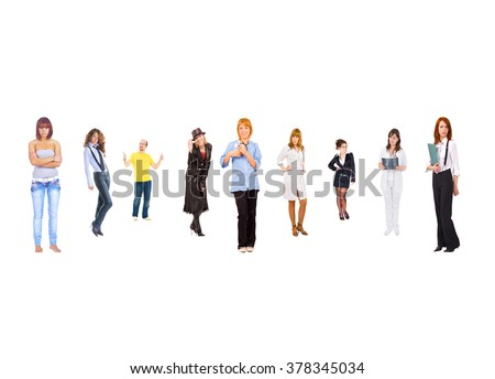 Business Compilation United Company  - stock photo