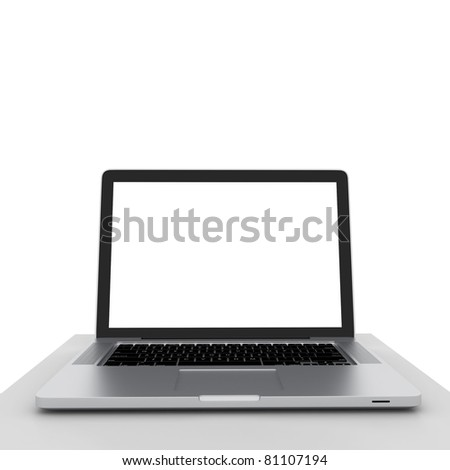 Business Computers Technology on a White Background - stock photo
