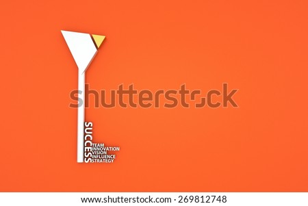 business concept, a key with words,  - stock photo