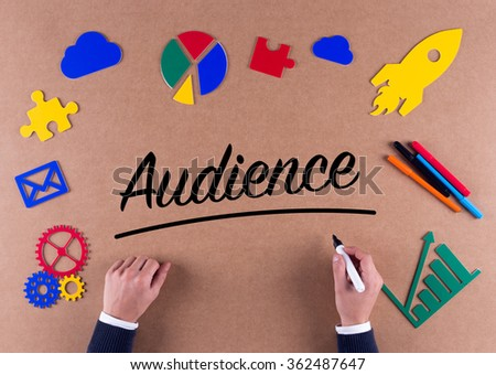 Business Concept-Audience word with colorful icons