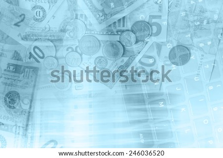 Business concept background - stock photo