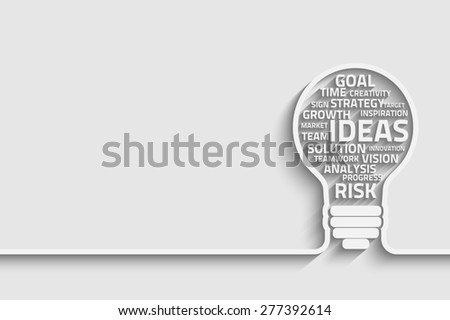 Business concept bulb made with words for your design - stock photo