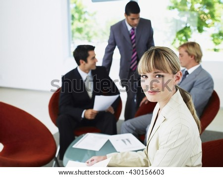 Business concept - Business people having business meeting in office