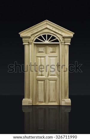 Business Concept, closed door - stock photo