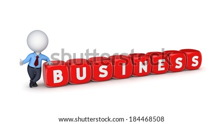 Business concept. concept.Isolated on white.3d rendered.