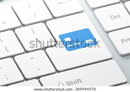 Business concept: Credit Card on computer keyboard background