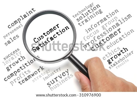Business concept, customer satisfaction focusing on Customer Satisfaction - stock photo