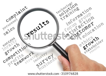 Business concept, customer satisfaction focusing on Results - stock photo