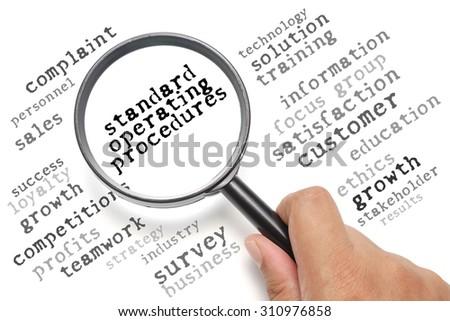 Business concept, customer satisfaction focusing on Standard Operating Procedures - stock photo