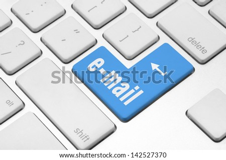 Business concept: E-mail key on the computer keyboard - stock photo