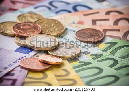 Business concept. Financial close-up background.