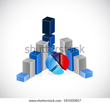 business concept graphs illustration design over a white background