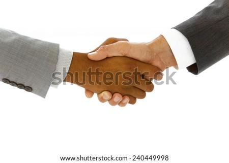 Business concept handshake - stock photo