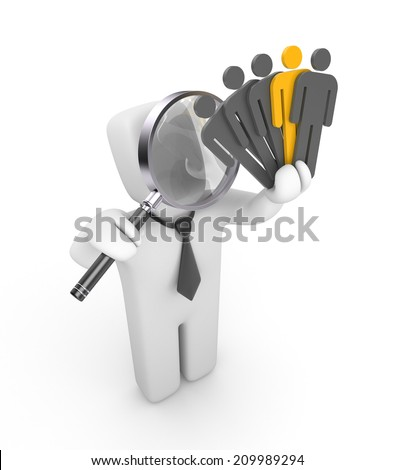 Business concept. Isolated on white - stock photo