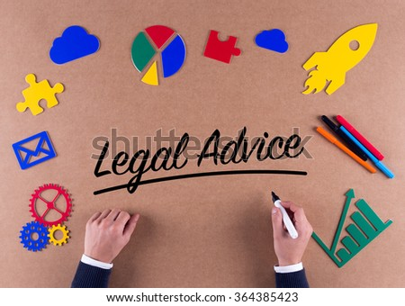 Business Concept-Legal Advice word with colorful icons
