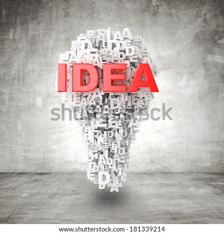business concept made with words 3d a lamp - stock photo