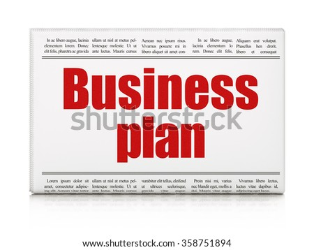 Business concept: newspaper headline Business Plan - stock photo