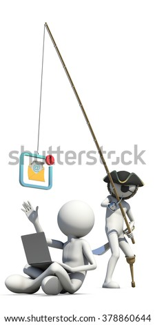 business concept of internet scam with phishing  - stock photo
