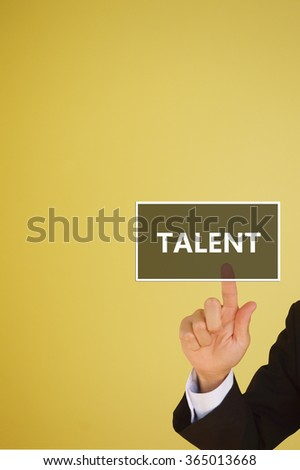 business concept of  talent