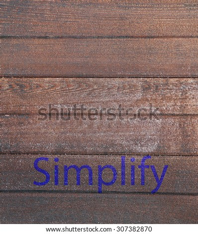 Business concept on a simple wooden background - stock photo