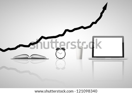 business concept  on gray background - stock photo