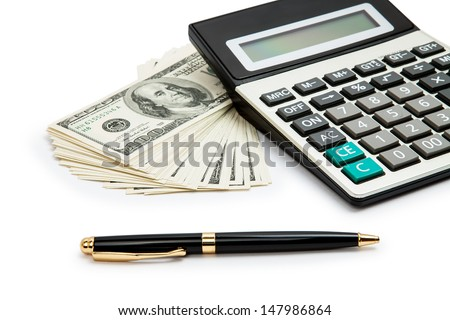 Business concept on white background - stock photo