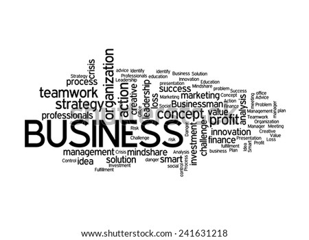 Business concept on white background