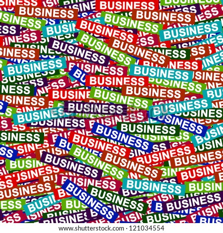 Business Concept Present By Group of Colorful Business Label Background - stock photo