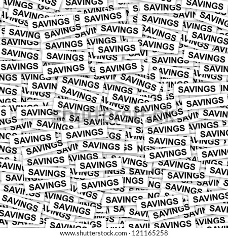 Business Concept Present By Group of Savings Label Background - stock photo