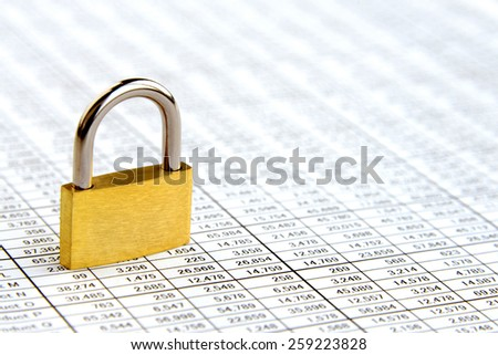 Business concept, protection for PC data - stock photo