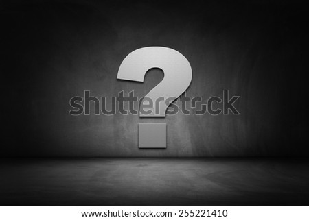 Business concept: Question mark on dark street - stock photo