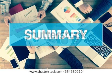 Business Concept: SUMMARY - stock photo