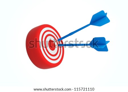 business concept with 3d darts - stock photo