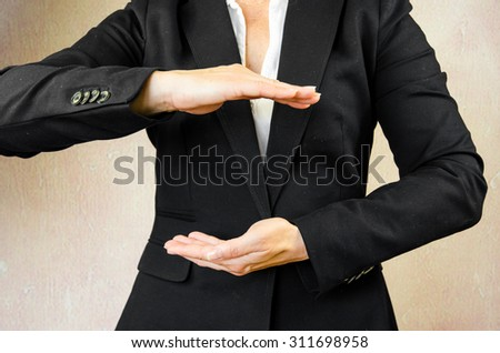 business concept with hand gesture - stock photo