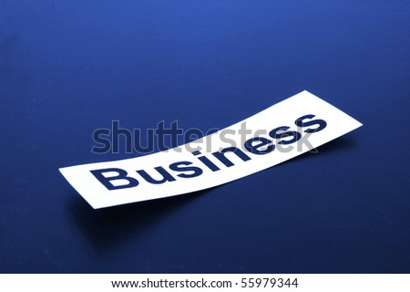 business concept with sheet paper and copyspace