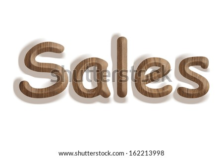 Business concept:  wooden word sales on white background - stock photo