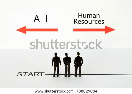 Business concepts, AI or human resources