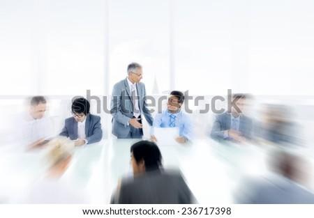 Business Concepts Ideas Coopration Decision Communication Concept - stock photo