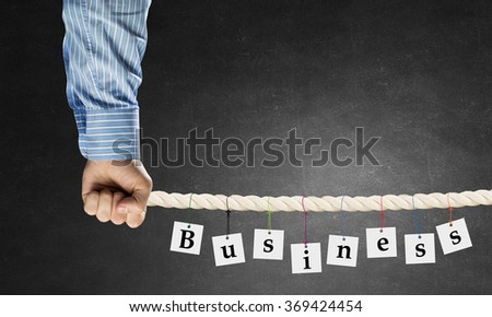 Business conceptual word - stock photo