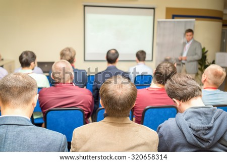 Business Conference and Presentation.  - stock photo