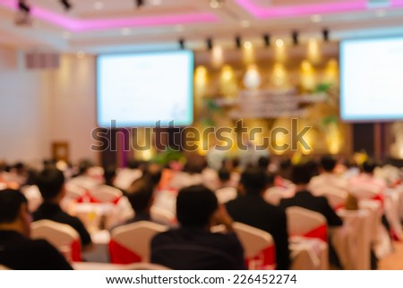 Business Conference and Presentation in the conference hall - stock photo