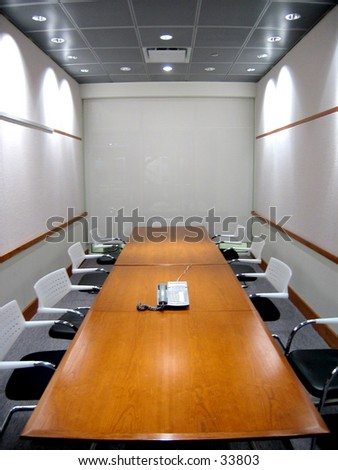 Business Conference Room with phone on table (2 of 2 Photo)