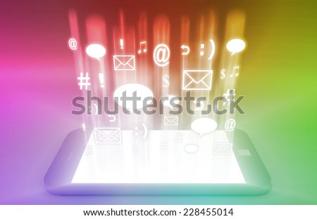 Business Consulting with World Knowledge as Art - stock photo