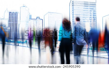 Business Contemporary Meeting Room Office Working Concept - stock photo