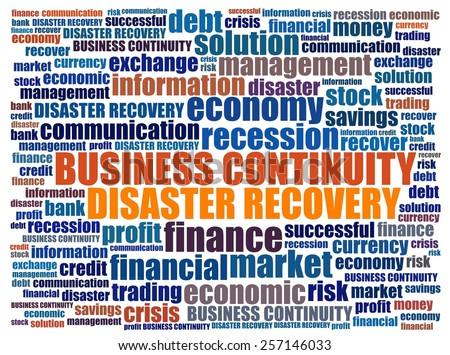 Business Continuity in word collage